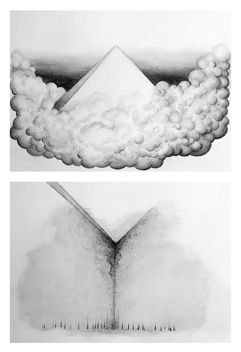 2 Drawings by Sabina Nore