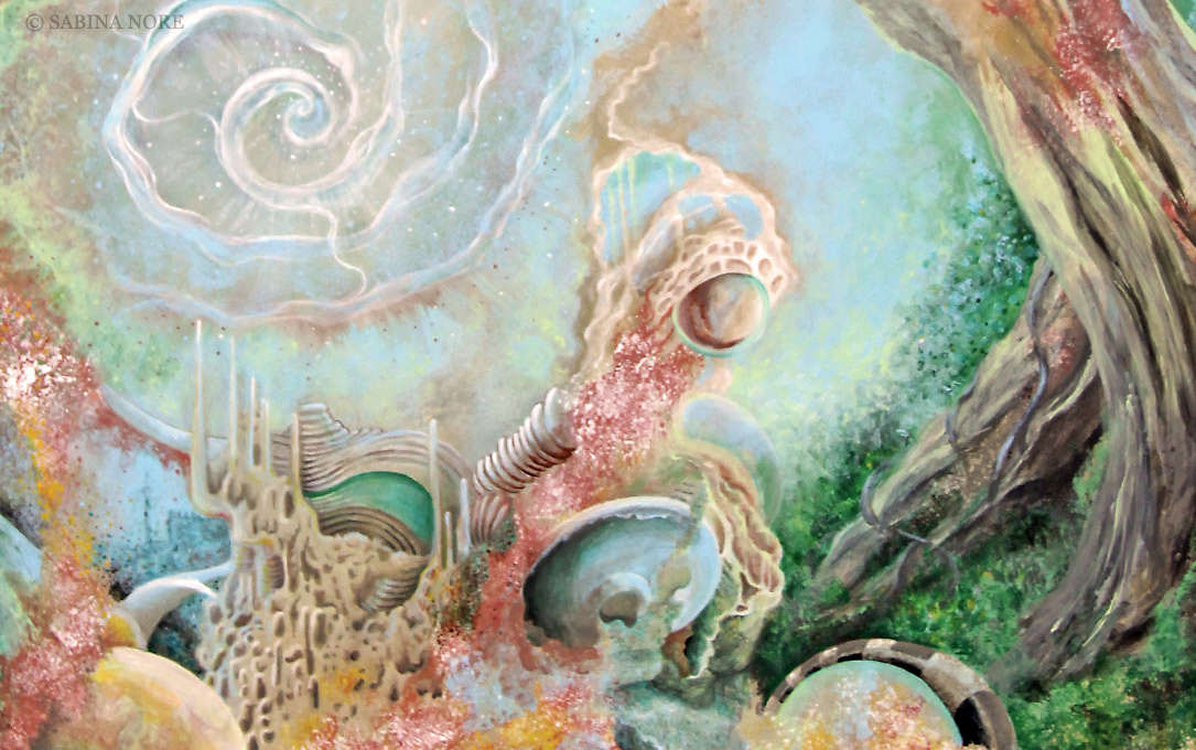 Painting detail from Conjuring of Dreams by Sabina Nore