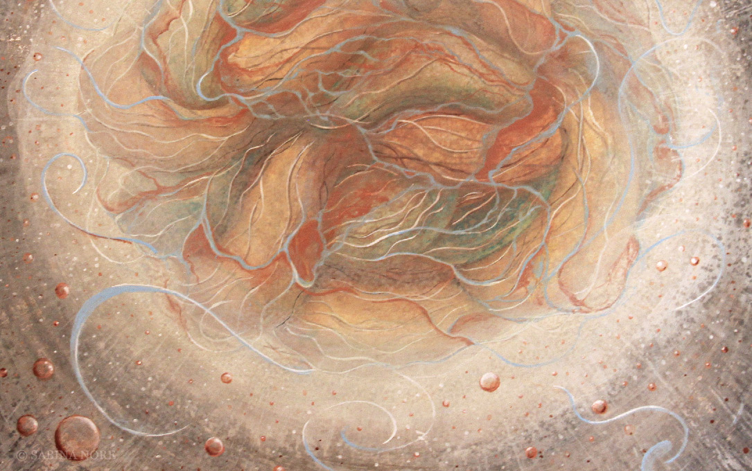 Painting detail from En-trance by Sabina Nore